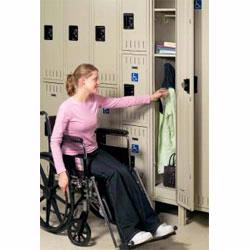 If you are looking for ADA Compliant Lockers you've found them. These ADA Lockers are specifically designed for physically challenged employees, patrons and students.