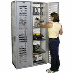 All Welded Lockers are solidly built to deliver years and years of trouble-free service. All welded lockers feature ventilation holes to reduce odor, great for use in gyms and sports locker rooms. Material Flow carries all welded lockers from Lyon and Jesco.
