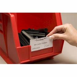 Bin&bull;Buddy and Tridex label holders are THE solution to labeling plastic bins, totes and containers. Material Flow sell label holders for less!