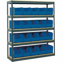 Material Flow's selection of bin shelving will aid in the storage and organization of small parts. Choose from products by Stromberg, Lyon, Lewis Bins, Quantum and others.