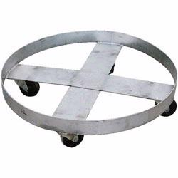 Drum Dollies mobilize anything stored in steel, plastic, or fiber drums.