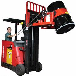 Use your forklift to easily handle the heaviest of drums with drum forklift attachments from Vestil, Morse, and Valley Craft.