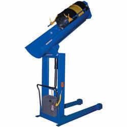 Morse drum positioners and dumpers allows for safe and accurate dispensing of contents in a controlled manner.