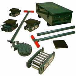 Hillman Rollers and Tractel heavy and light equipment moving kits transports up to 50 tons of industrial equipment with these versatile kits.