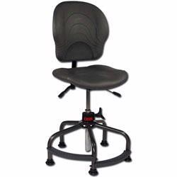 Ergonomic seating can improve worker comfort and productivity. Material Flow carries ergonomic office chairs, utility chairs, industrial chairs and seating accessories from Lyon, Vestil and others.