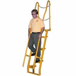 Fixed ladders are used in areas where permanent access is required. Material Flow carries Cascade Equipment, Material Flow and Conveyor Systems Incorporated, Vestil Manufacturing Corporation, and Ballymore Safety Ladders brand fixed ladders.