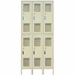 Durable steel lockers for higher abuse school and industrial environments.