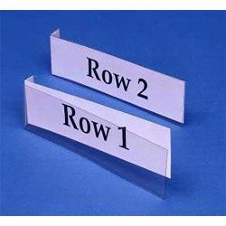 Insertable labels holders are commonly used in offices, warehouses and manufacturing plants. Insertable label holders can be changed on the fly to suit your specific needs. Material Flow sells label holders for less!