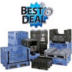 Reconditioned containers from Buckhorn offer huge savings compared to brand new bulk containers.