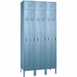 Two-Person Lockers feature ample storage for two people in a space only 15