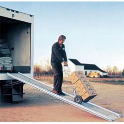 Walkramps bridge gaps and make delivery and moving convenient and safe. Material Flow carries Vestil, Dutro, and B&P Manufacturing brand Walkramps.