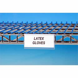 Wire rack label holders are the perfect addition to any wire racking system. Labels and label holders can decrease order picking time and increase productivity. Many label styles available. Material Flow sells label holders for less!