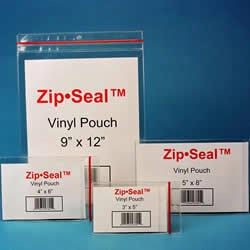 Zip-Seal Vinyl pouches are perfect for labeling or packaging parts, documents, warranties, instruction booklets and more.